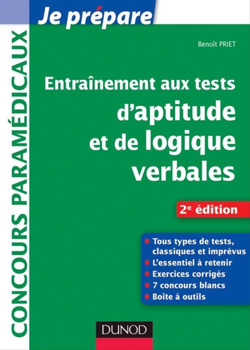 Entraînement aux tests d'aptitude et de logique verbales - 2e édition