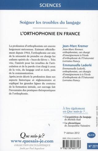 L'orthophonie en France (7e édition)
