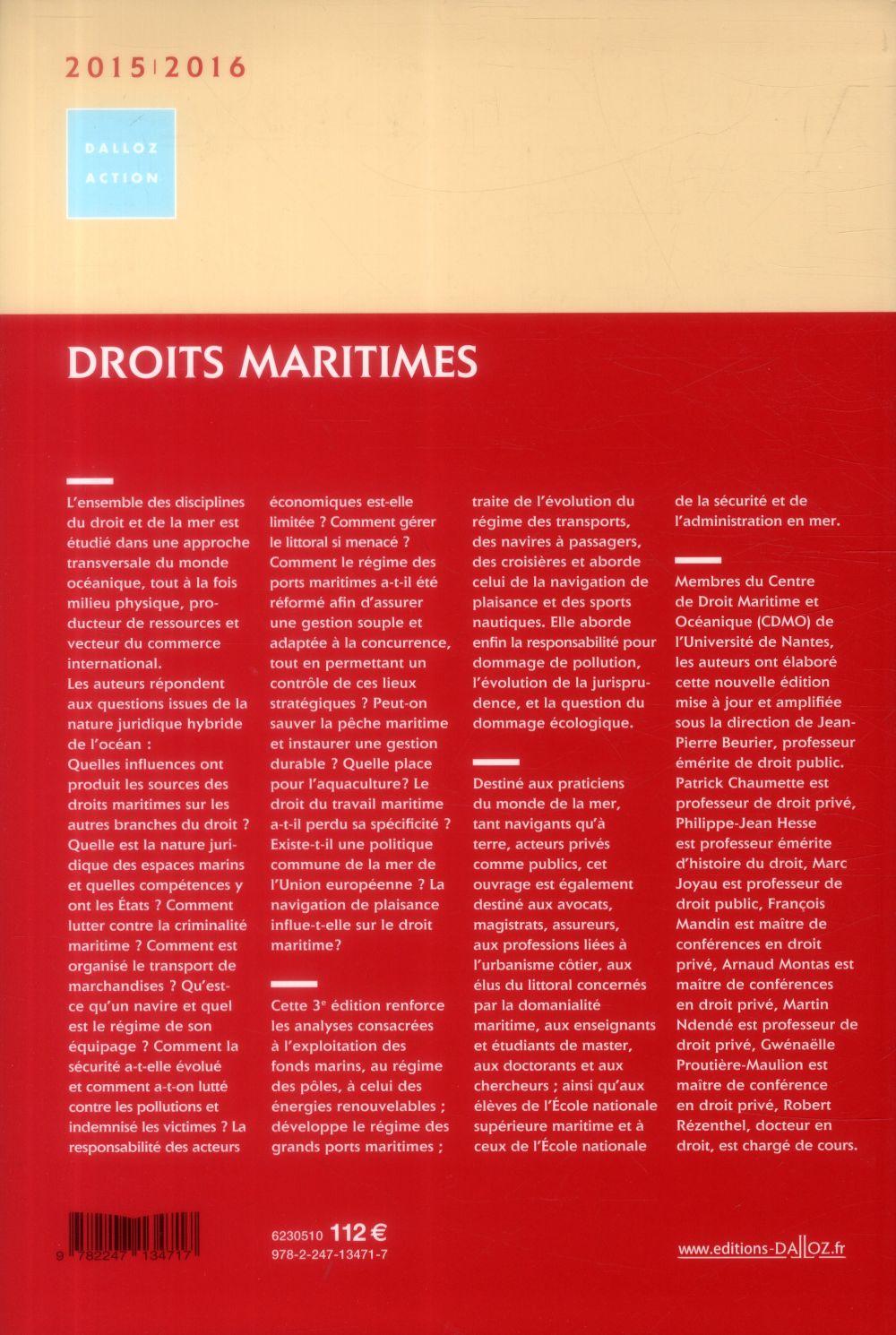 Droits maritimes (édition 2015/2016)