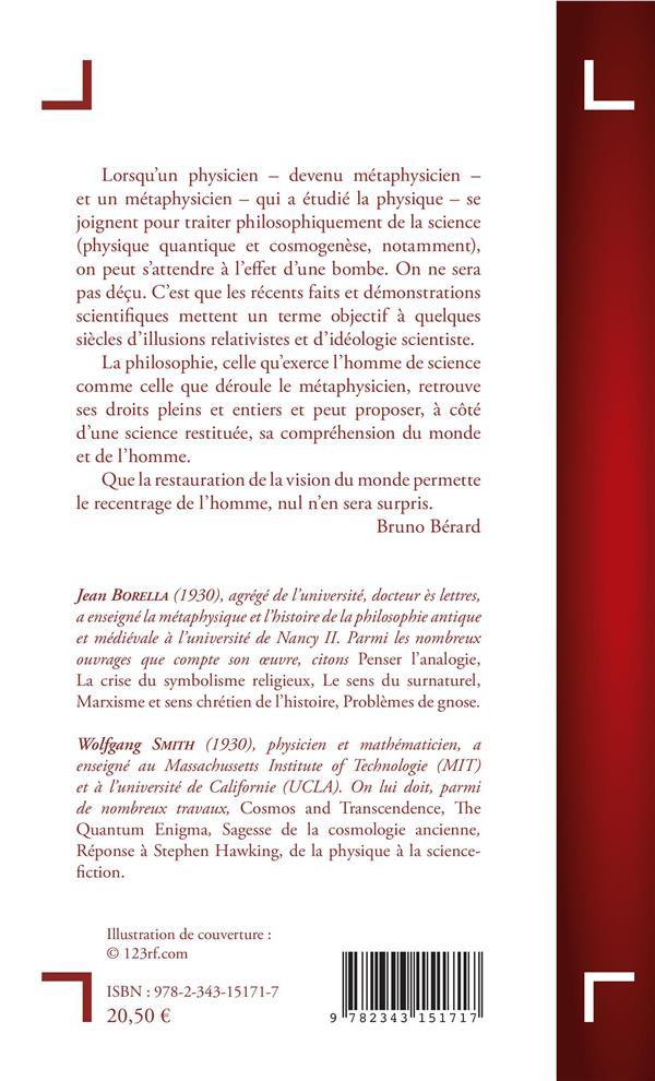 Physique Et Metaphysique Jean Borella Wolfgang Smith L Harmattan Grand Format Librairies Autrement