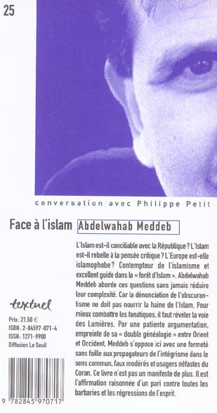 face à l'islam ; conversation avec Philippe Petit