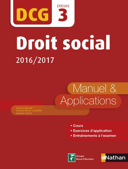Droit social - DCG 3 - Manuel et applications