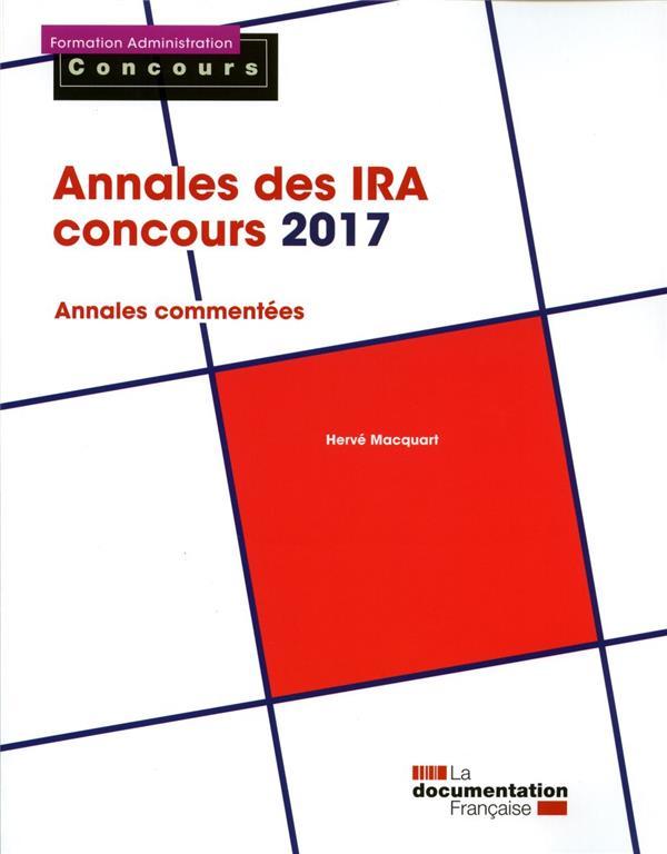 Annales des IRA ; concours 2017