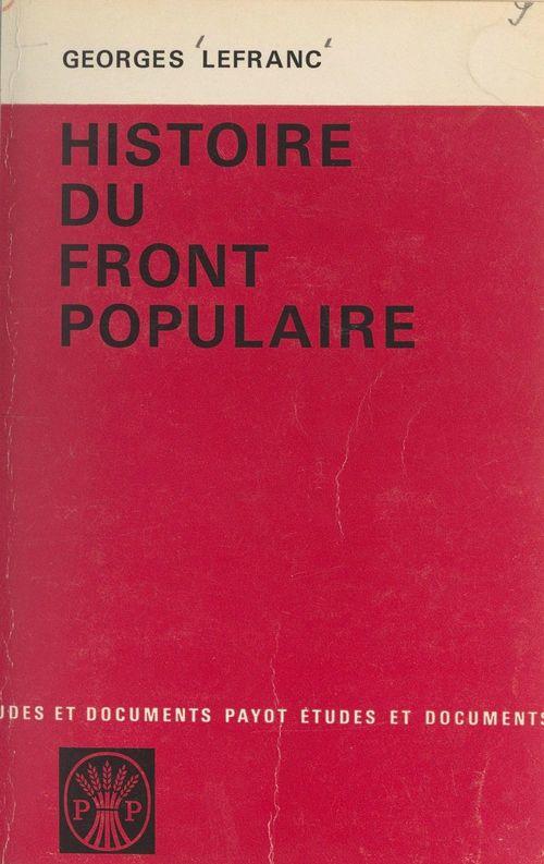 Histoire du Front Populaire, 1934-1938