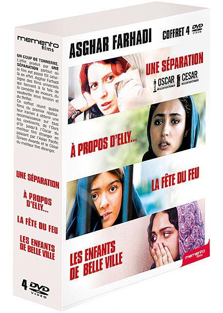 Asghar Farhadi - Coffret 4 films : Une séparation + A propos d'Elly... + La fête du feu + Les enfants de Belle Ville