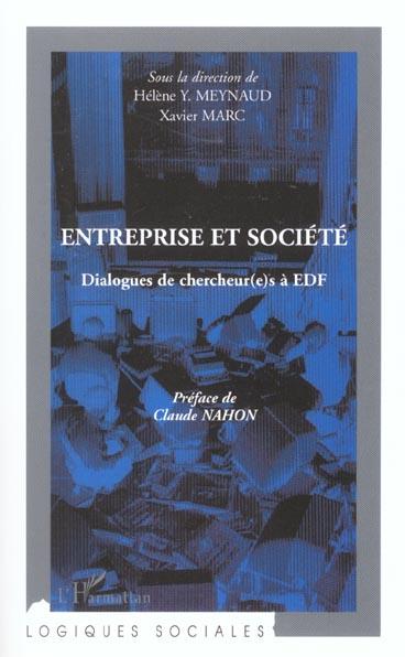 Entreprise et societe - dialogues de chercheur(e)s a edf