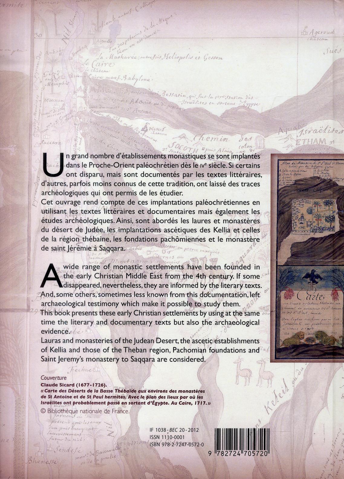 Survivance des sites monastiques paleochretiens dans le proche orient