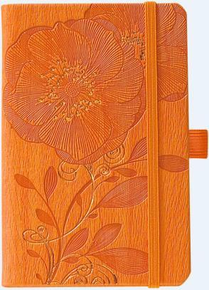 IVORY NATURECAMELIA ORANGE  9 X 14 CM 192 PAGES PICCOLIA