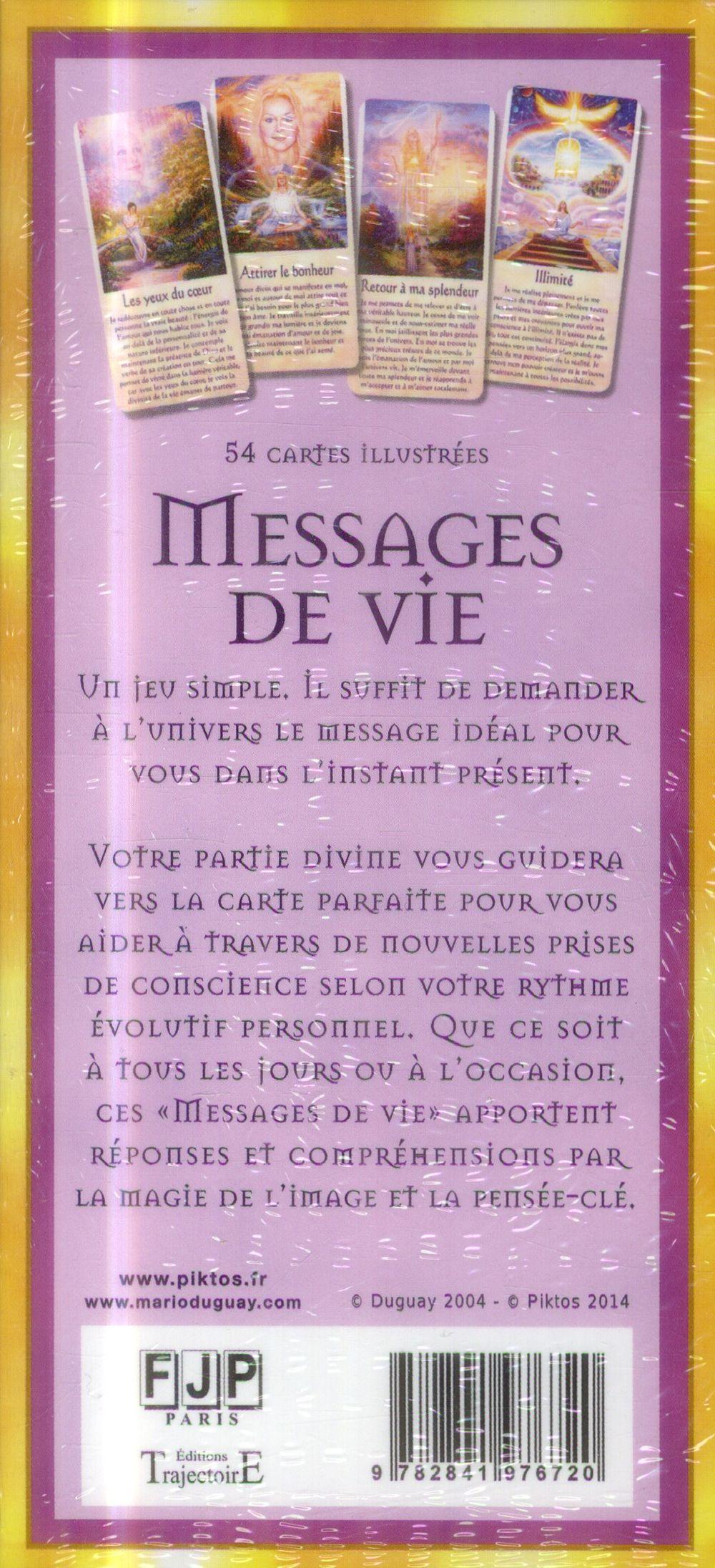 Messages de vie  ; 54 cartes illustrées
