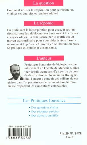 N 7 Renaitre Par Le Souffle Desire Merien Jouvence Grand Format Le Hall Du Livre Nancy