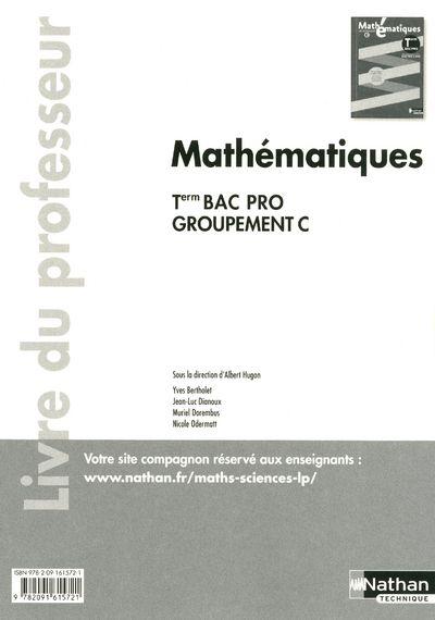 Mathématiques ; terminale bac pro ; groupement c ; livre du professeur 2011 (pochette)
