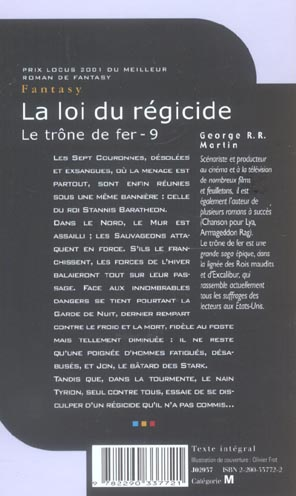 Le trône de fer T.9 ; la loi du régicide