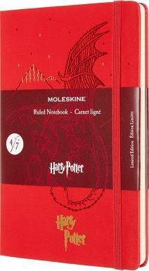 Harry Potter carnet ligné grand format rouge