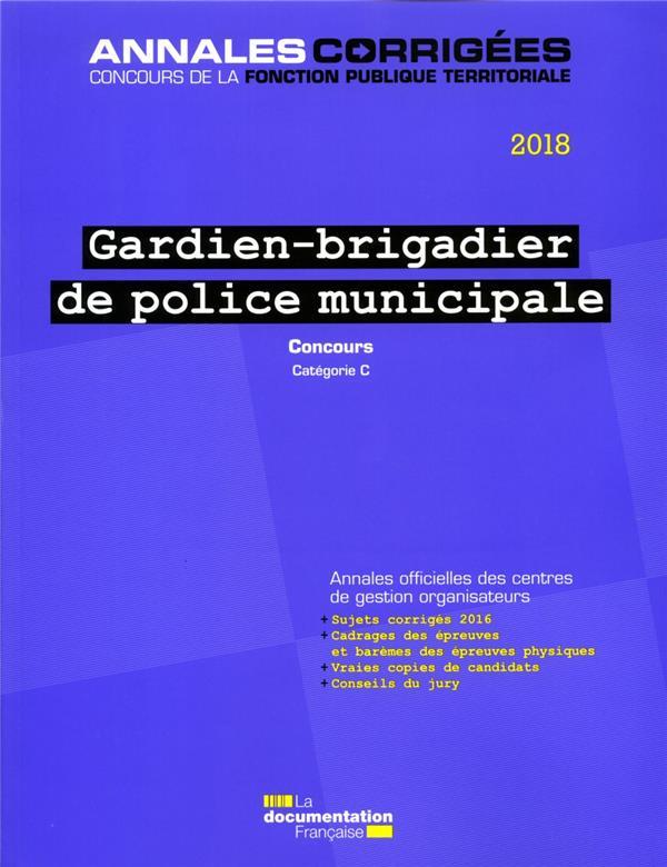gardien-brigadier de police municipale ; concours catégorie C (édition 2018)