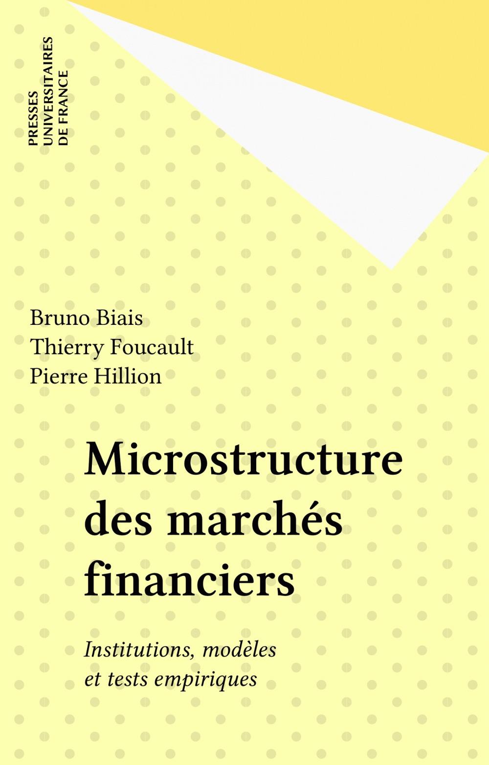Microstructure des marchés financiers