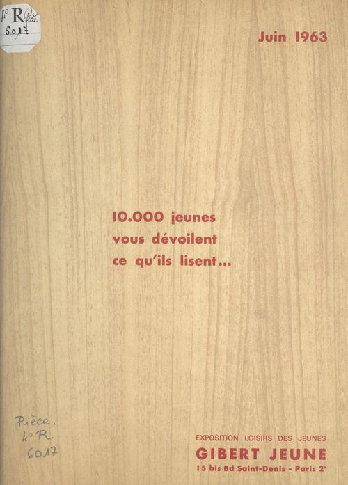 10.000 jeunes vous dévoilent ce qu'ils lisent