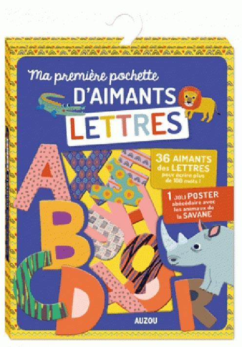 Ma première pochette d'aimants ; lettres