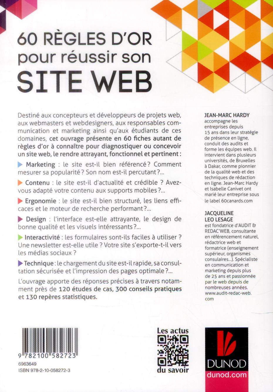 60 règles d'or pour réussir son site Web (4e édition)