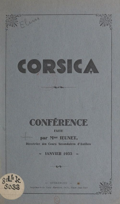 Corsica  - Jeunet