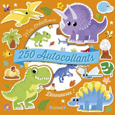 250 autocollants ; dinosaures !