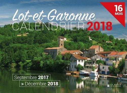 Calendrier ; Lot-et-Garonne ; septembre 2017 /décembre 2018 ; 16 mois