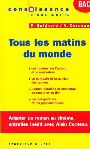 Tous Les Matins Du Monde ; Bac