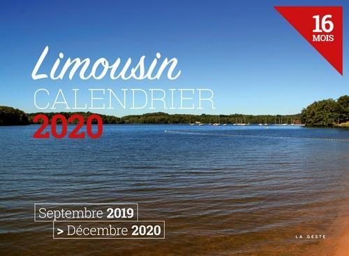 Calendrier 2020 ; Limousin