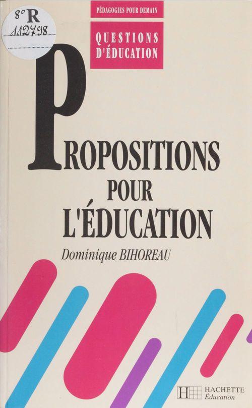 Propositions pour l education
