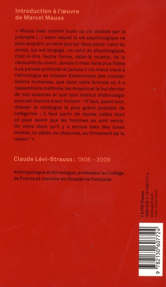 Introduction à l'oeuvre de Marcel Mauss