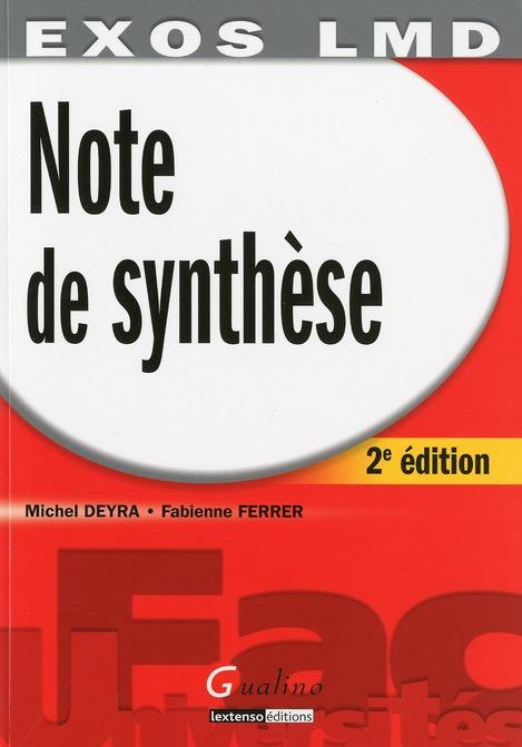 Note de synthèse (2e édition)
