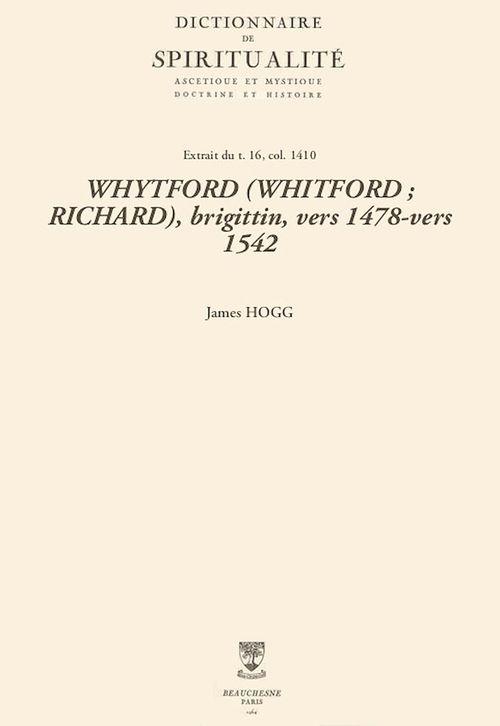 WHYTFORD (WHITFORD; RICHARD), brigittin, vers 1478-vers 1542