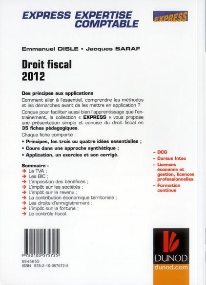 DCG 4 ; droit fiscal en 35 fiches (4e édition)