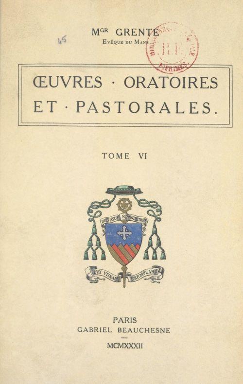 OEuvres oratoires et pastorales (6)