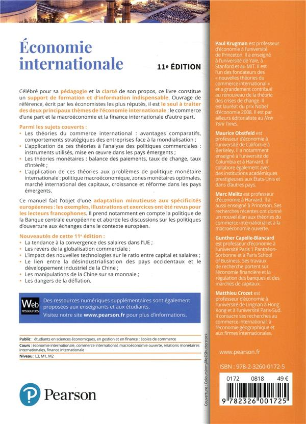 économie internationale (11e édition)