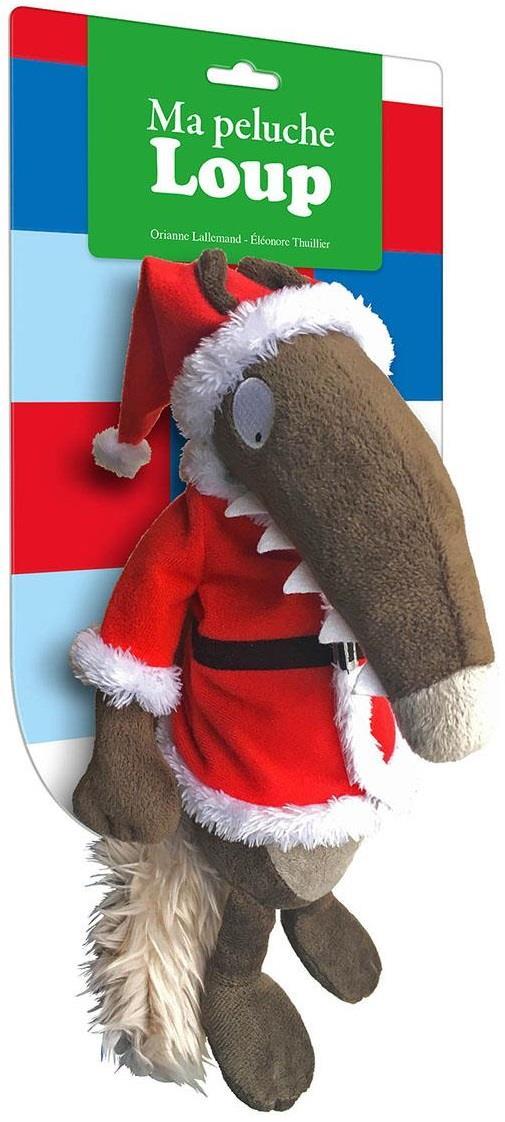 Ma peluche Loup habillée ; Noël