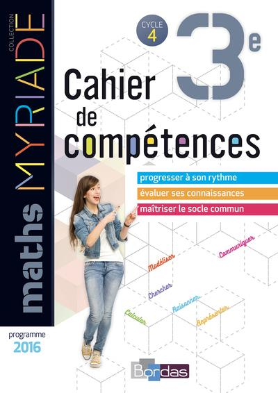 MYRIADE ; mathématiques ; 3e ; cahier d'activités (édition 2018)