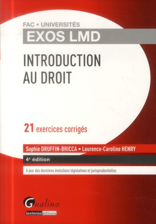 Introduction générale au droit (4e édition)