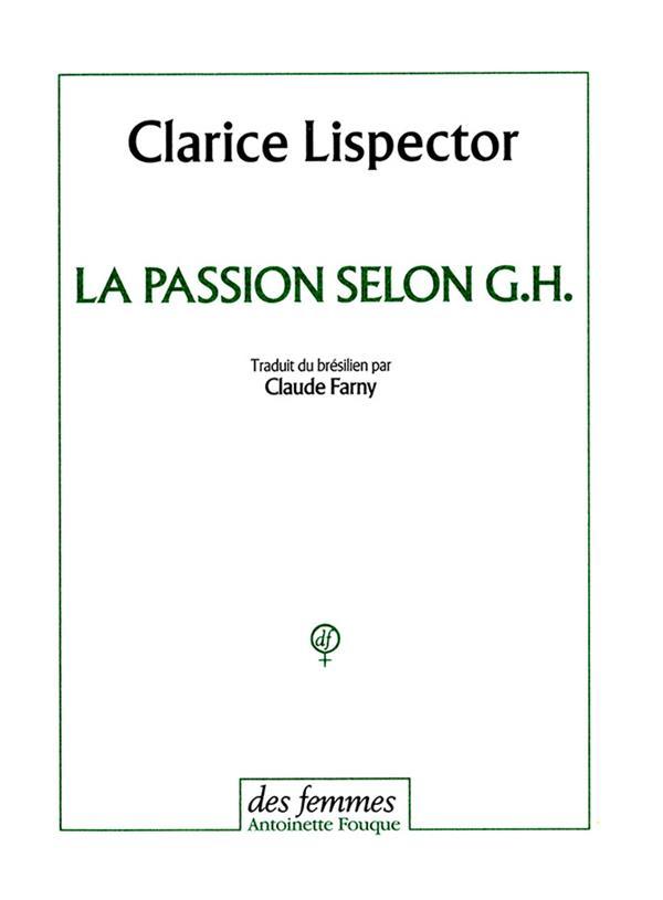 LA PASSION SELON G.H.