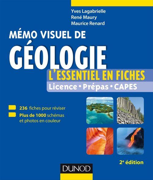 Mémo visuel de géologie ; l'essentiel en fiches et en couleurs