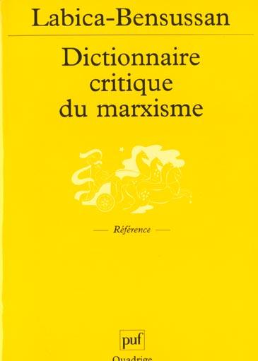 Le dictionnaire critique du marxisme