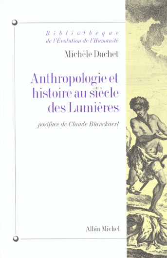 Anthropologie et hist. au siecle des lumieres