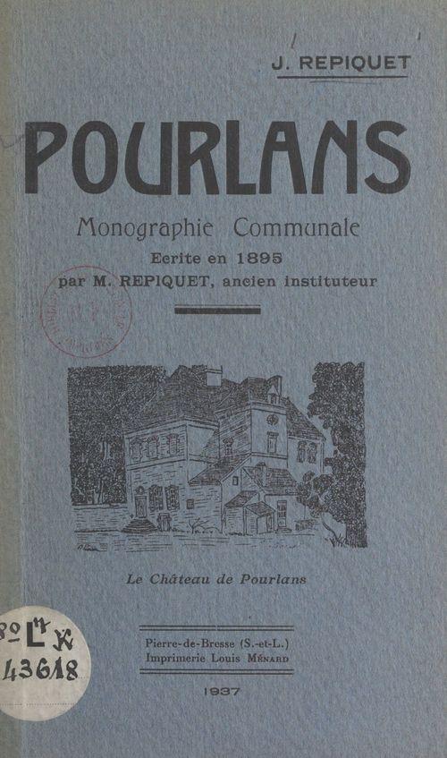 Pourlans  - Jules Repiquet