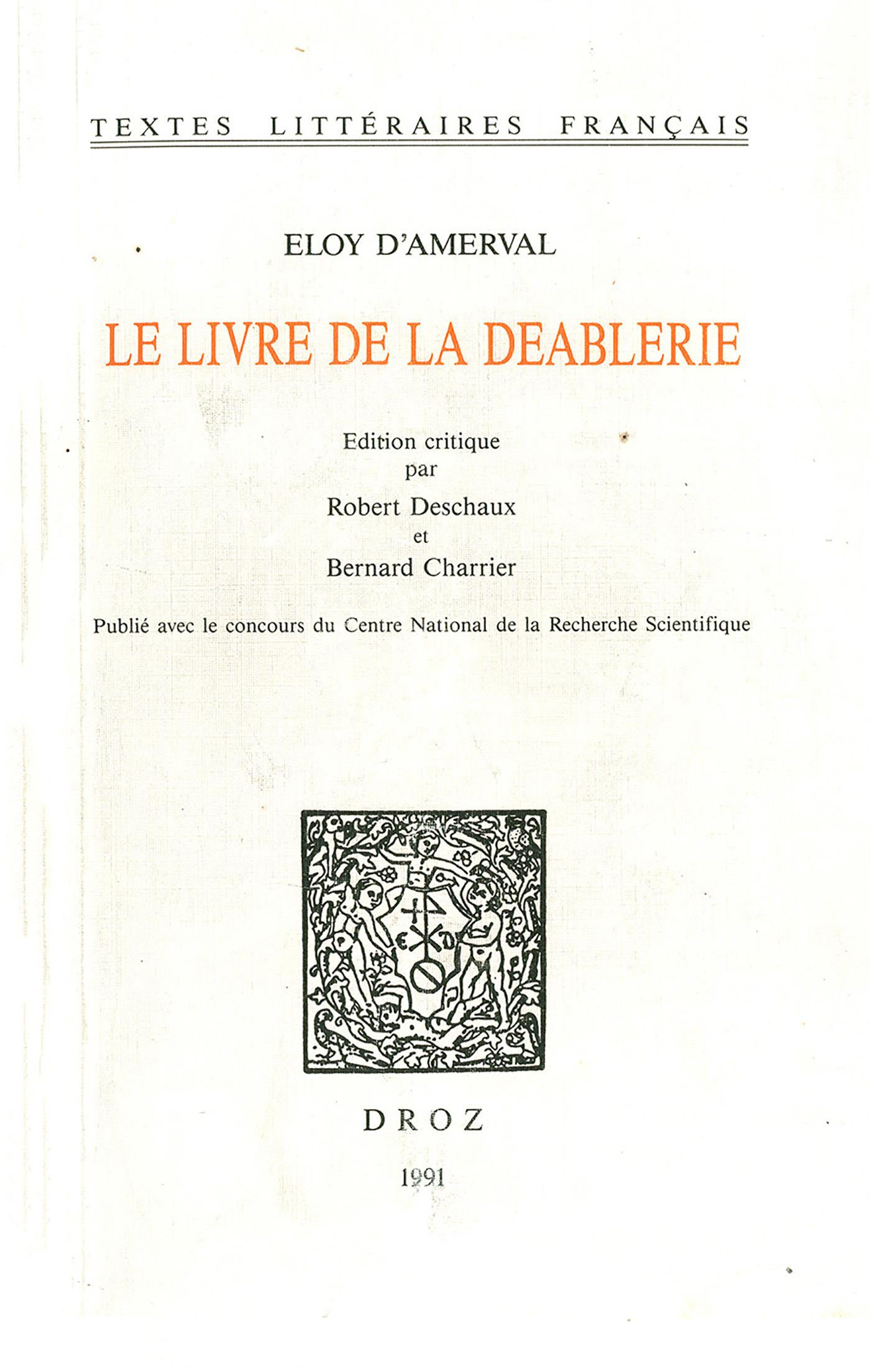 Le Livre de la Deablerie  - Eloy Amerval