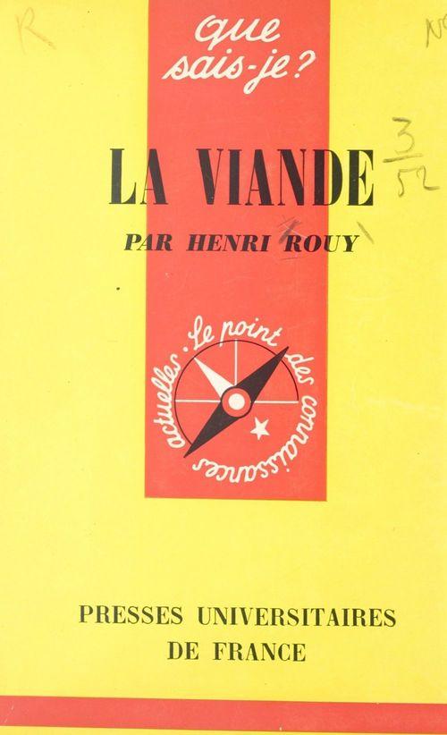La viande  - Henri Rouy