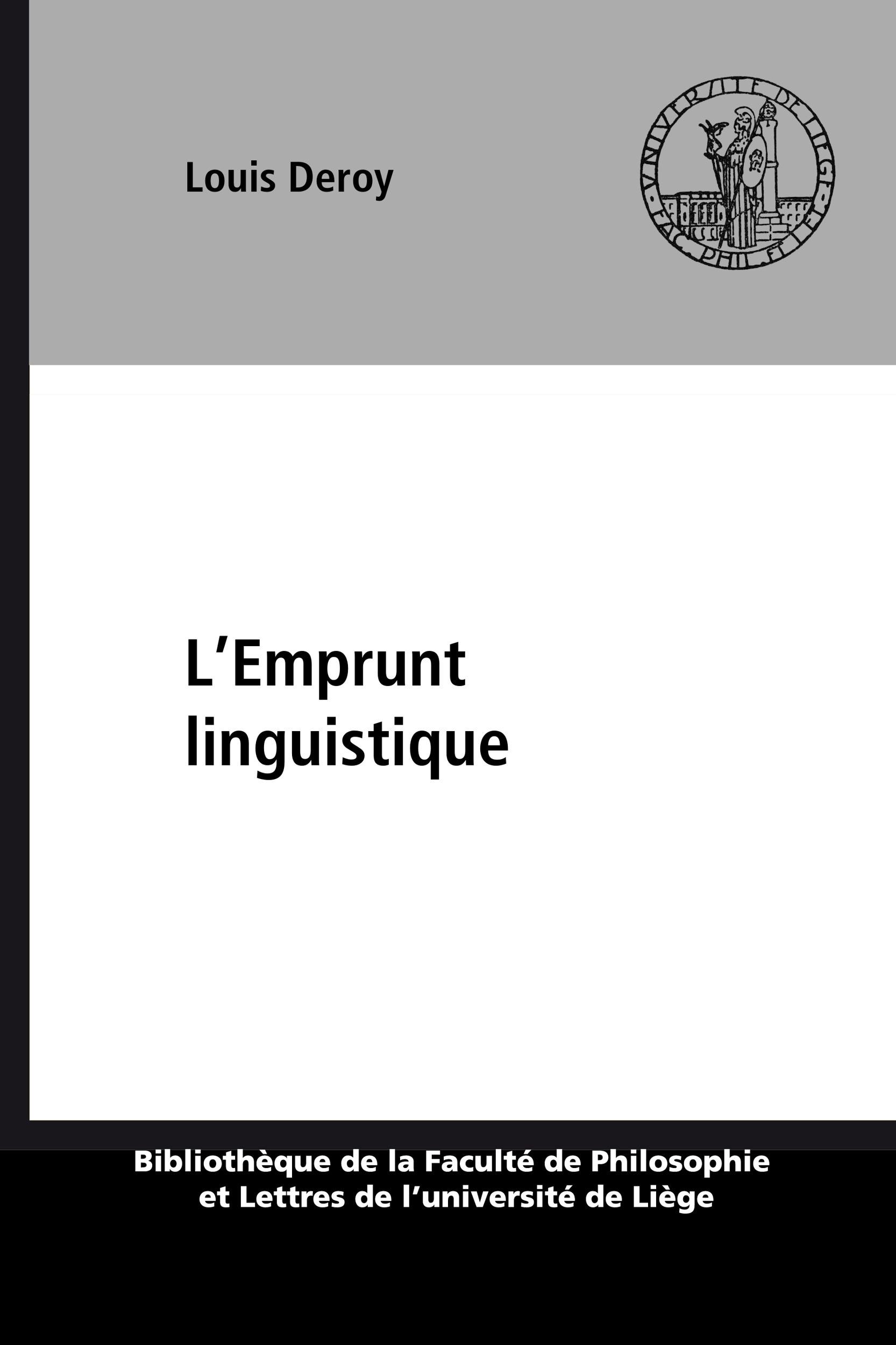 L'Emprunt linguistique
