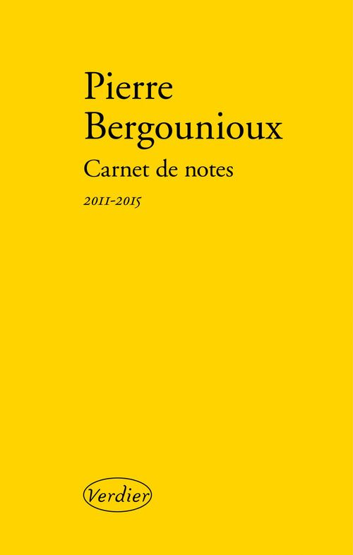 Carnet de notes ; 2011-2015