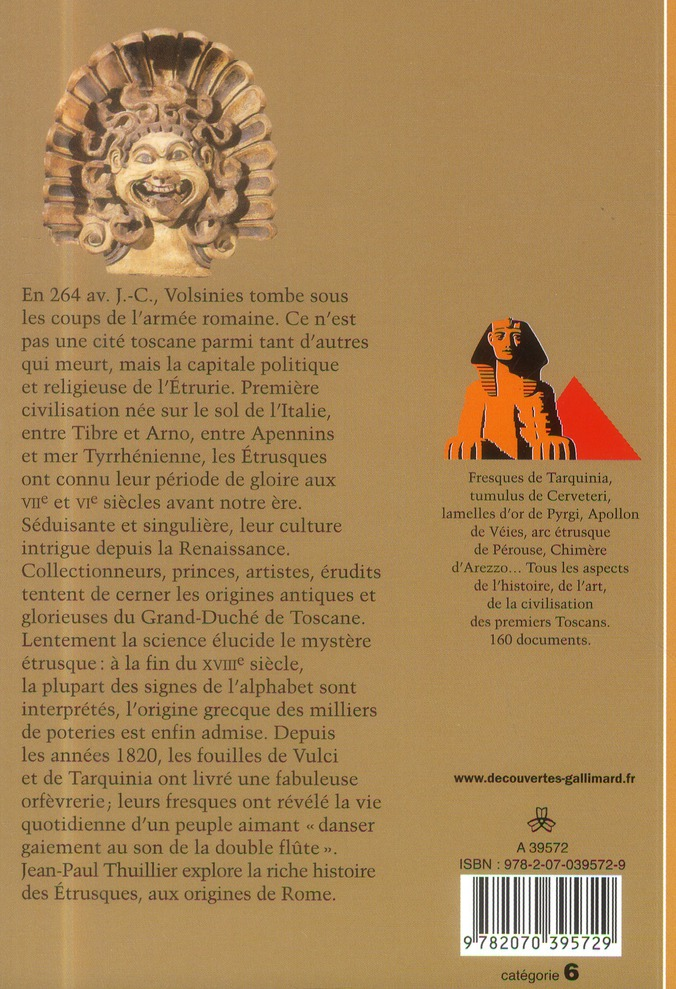 Les Etrusques ; la fin d'un mystère