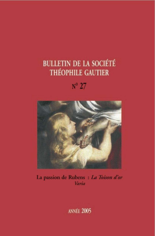 Bulletin de la société Théophile Gautier n27