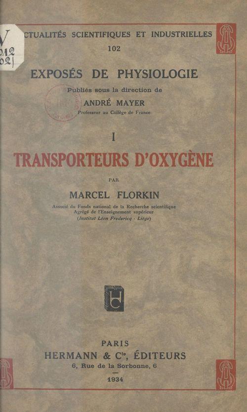 Transporteurs d'oxygène