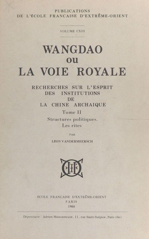 Wangdao ou La voie royale (2)